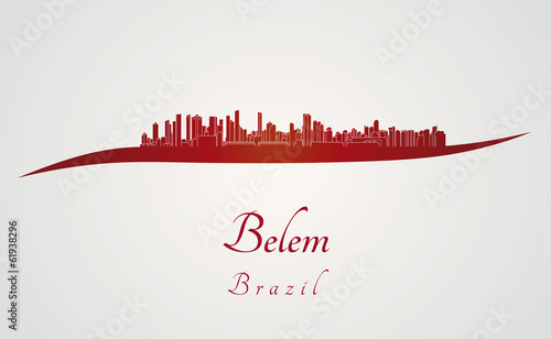 Papier Peint - Belem skyline in red