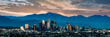 Papier Peint - Los Angeles Skyline at sunset