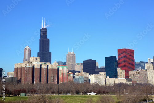 Papier Peint - Chicago skyline with Willis Tower (Sears Tower), IL, USA