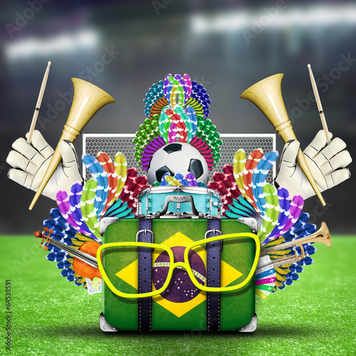 Papier Peint - Brazil, the world football championship, festival and a carnival