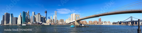 Papier Peint - Manhattan panorama and Brooklyn Bridge, New York City