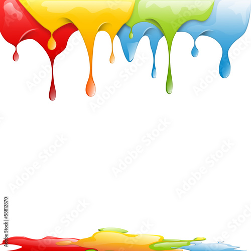 Papier Peint - Colored splashes in abstract shape