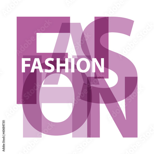 Papier Peint - Vector Fashion. Violet Broken text