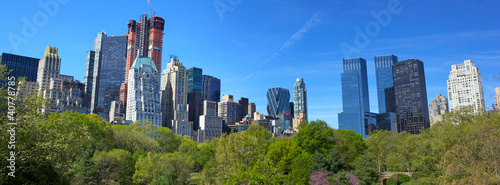 Papier Peint - Central Park with Manhattan skyline in New York City