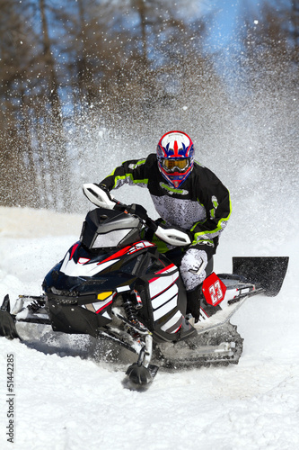 Papier Peint - snowmobile in action