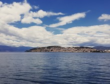 Papier Peint - Ohrid city and lake landscape