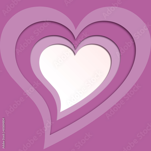 Papier Peint - Vector violet hearts background