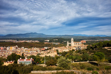 Papier Peint - Girona City and Province Landscape in Catalonia, Spain
