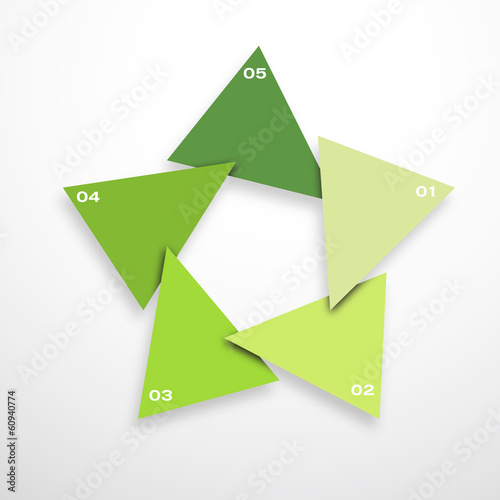 Papier Peint - vector star for recycle, infographic for business project