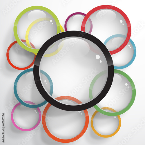 Papier Peint - Vector circles background, lens and photography