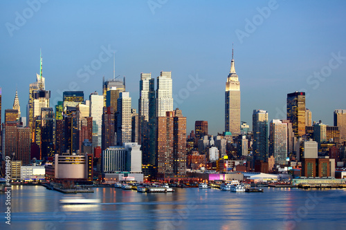 Papier Peint - Manhattan Midtown skyline at dusk, New York City