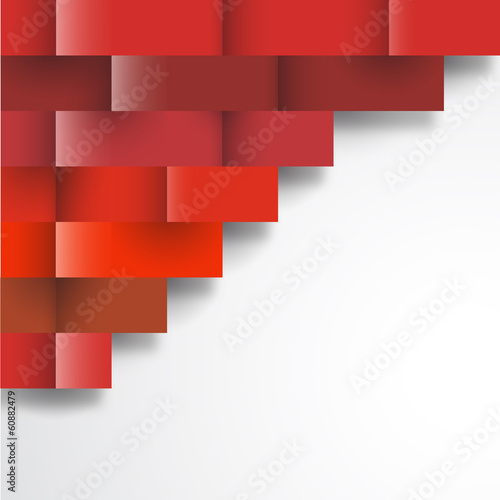 Papier Peint - abstract geometric red wallpaper background