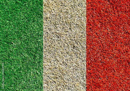 Papier Peint - Italy, the flag on the texture of the gras