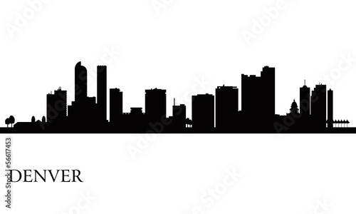 Papier Peint - Denver city skyline silhouette background