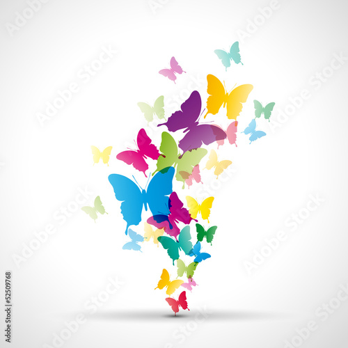 Papier Peint - Abstract butterflies background # Vector