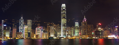 Papier Peint - Hong Kong Island panorama at night