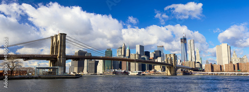 Papier Peint - Brooklyn Bridge and Manhattan panorama, New York City