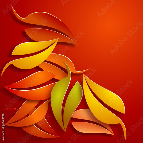Papier Peint - Vector autumnal background