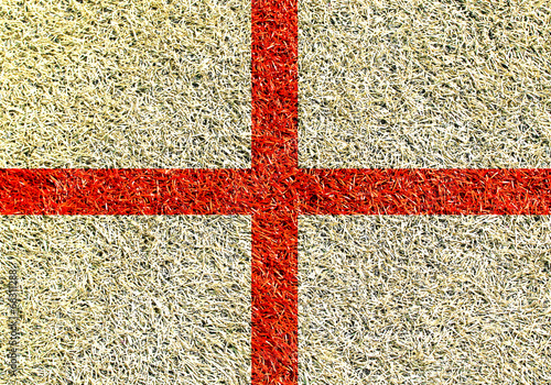 Papier Peint - England, the flag on the texture of the grass